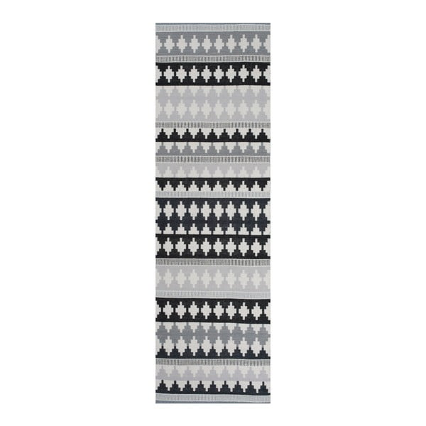 Šedý bavlněný koberec  Linie Design Nantes, 80x250cm
