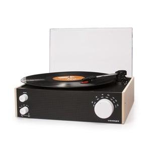 Černý gramofon s rádiem Crosley Switch