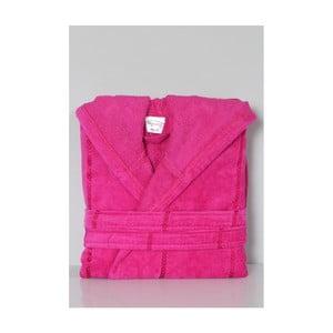 Růžový bavlněný dětský župan s kapucí My Home Plus Dreamy, 10 - 12 let