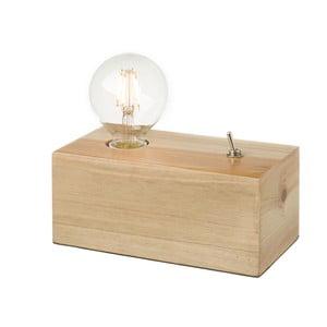 Stolní lampa ze dřeva se žárovkou Unimasa