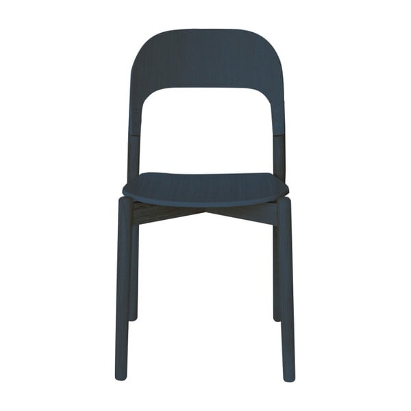 Šedomodrá židle z dubového dřeva HARTÔ Paula