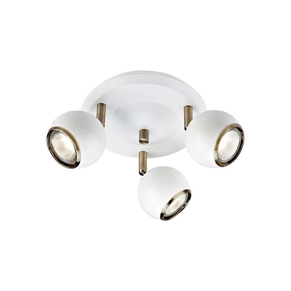 Bílé stropní světlo s detaily ve zlaté barvě Markslöjd Coco