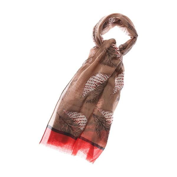 Šátek Falling Red, 180x70 cm