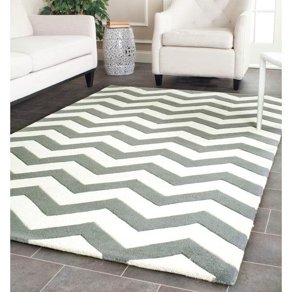 Vlněný koberec Crosby Middle Grey, 152x243 cm