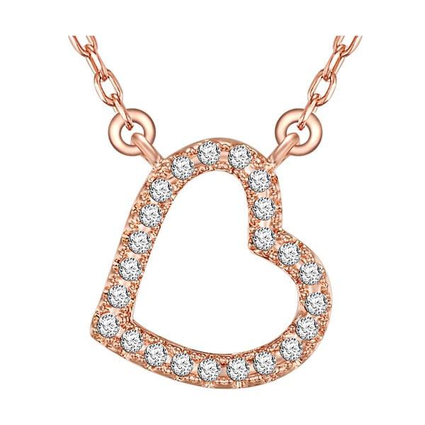 Dámský náhrdelník v barvě růžového zlata s motivem srdíčka Runway