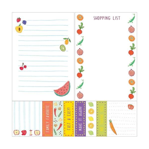 Bločky Chronicle Books Kitchen Sticky Notes + To-Do List, 50ks To-Do listů + 50ks lepíků + 150ks štítků