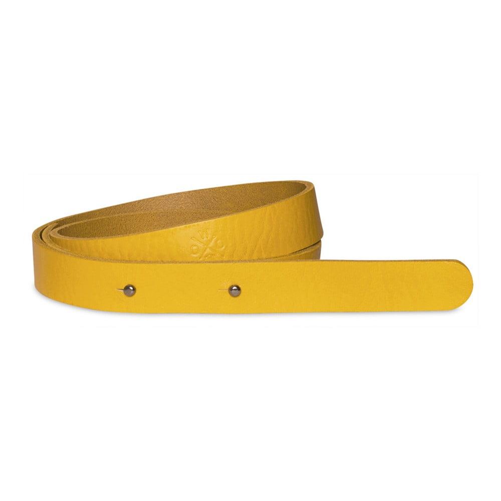 Žlutý kožený pásek Woox Mitella, délka 115 cm