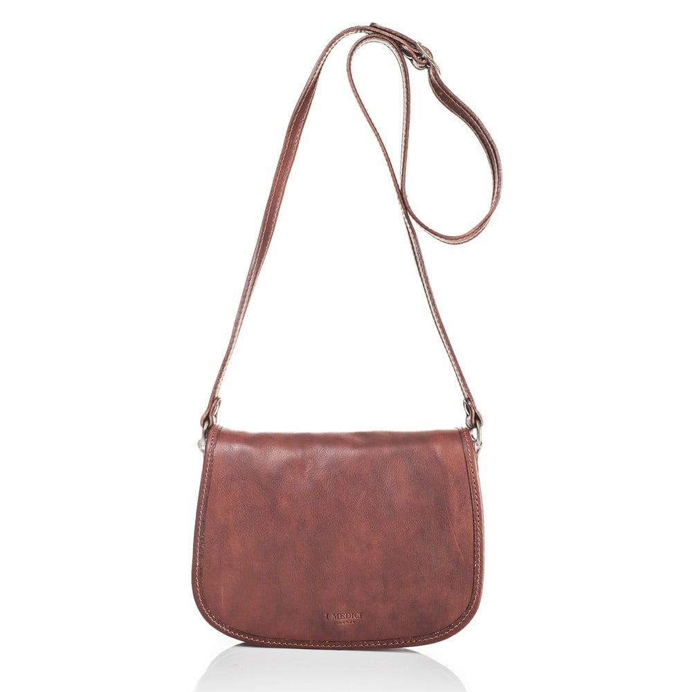 Hnědá dámská kabelka z telecí kůže Medici of Florence Michele 640161ab577