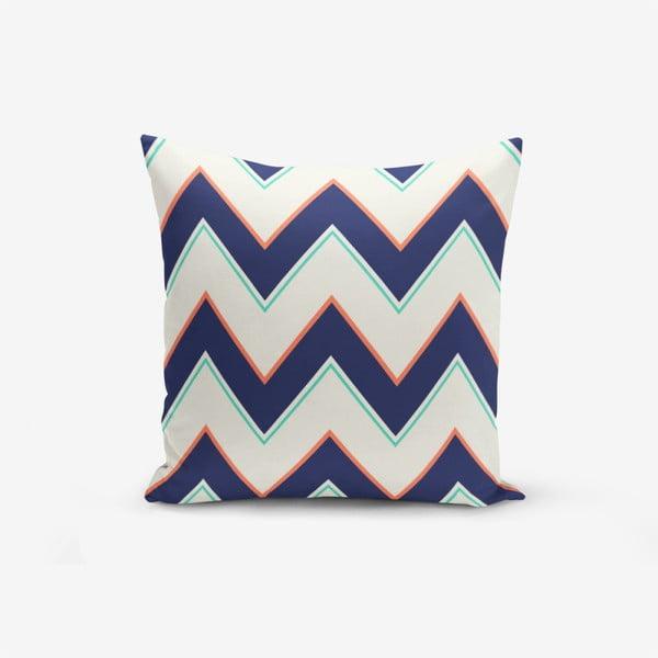 Față de pernă cu amestec din bumbac Minimalist Cushion Covers Colorful ZigZag, 45 x 45 cm, negru - alb
