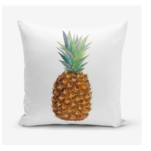 Povlak na polštář s příměsí bavlny s motivem ananasu Minimalist Cushion Covers Pine, 45 x 45 cm