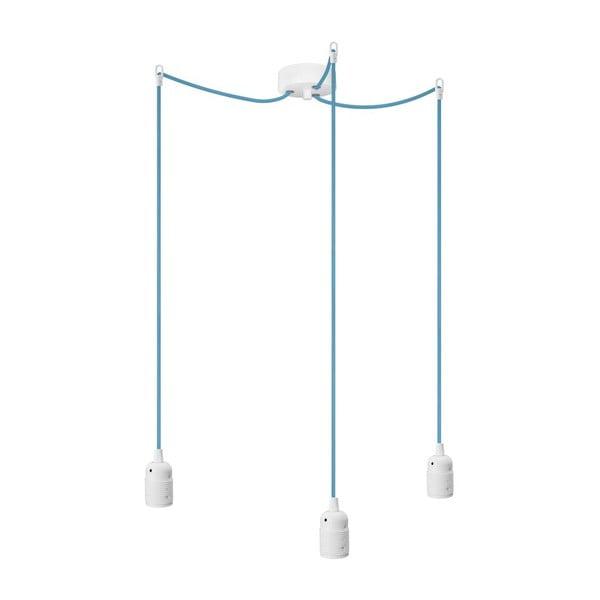 Tři závěsné kabely Uno, modrá/bílá