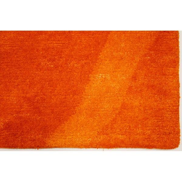 Vlněný koberec Palpa Orange, 70x140 cm