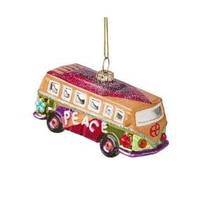 Vánoční závěsná ozdoba ze skla Butlers Hippie Autobus