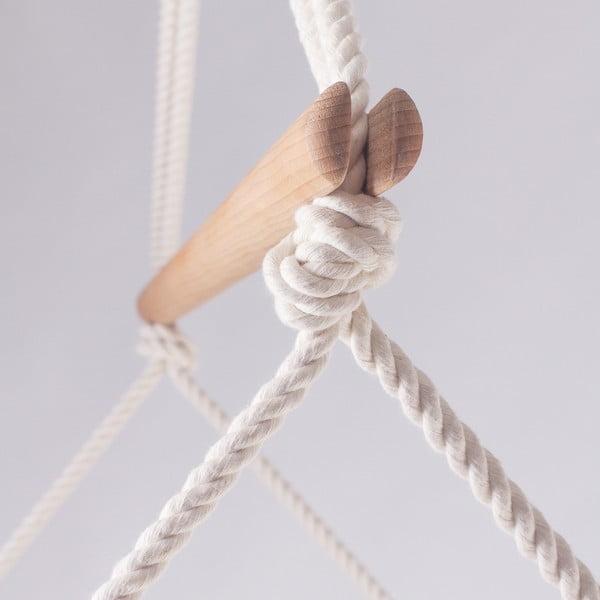 Šedé  interiérové houpací křeslo Linda Vrňáková Swingy In