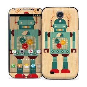 Samolepka na Samsung S IV, Blue Robot