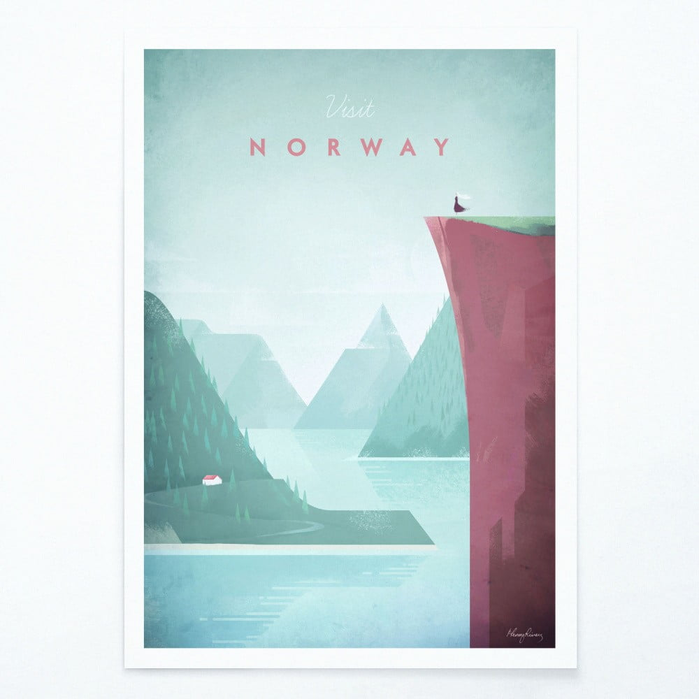 Plakát Travelposter Norway A2