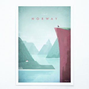 Poster Travelposter Norway, A3