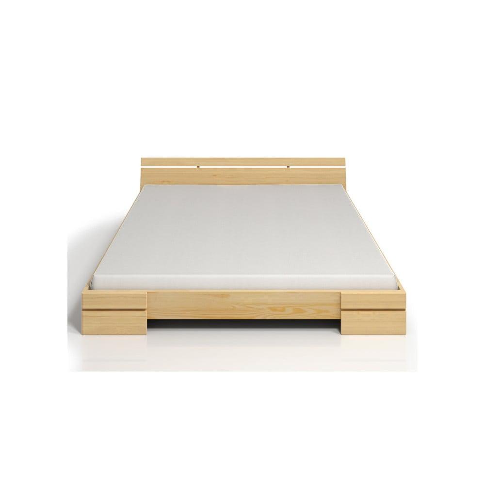 Dvoulůžková postel z borovicového dřeva s úložným prostorem SKANDICA Sparta Maxi, 140 x 200 cm