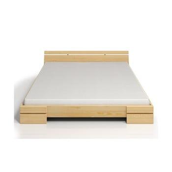 Pat dublu din lemn de pin SKANDICA Sparta Maxi, 180 x 200 cm imagine
