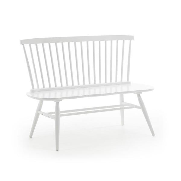 Biela sedacia lavica z kaučukového dreva La Forma Slover, 120 × 53 cm