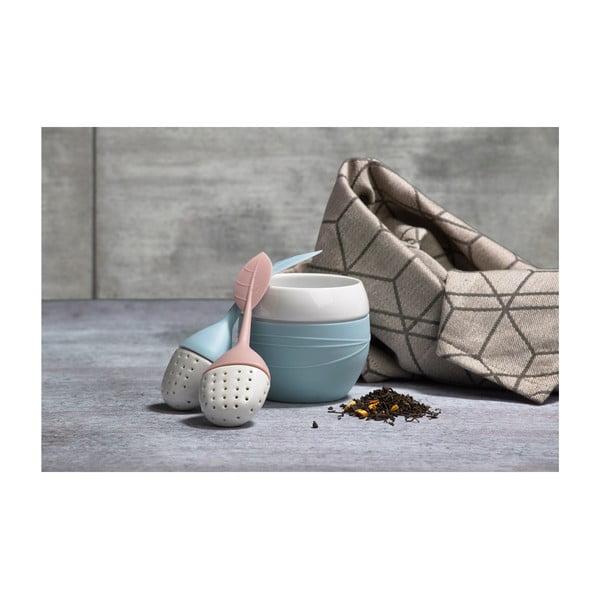 Sítko na čaj Lísteček, starorůžový