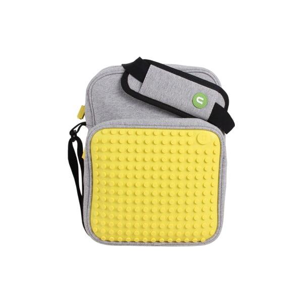 Pixelová taška přes rameno, grey/yellow