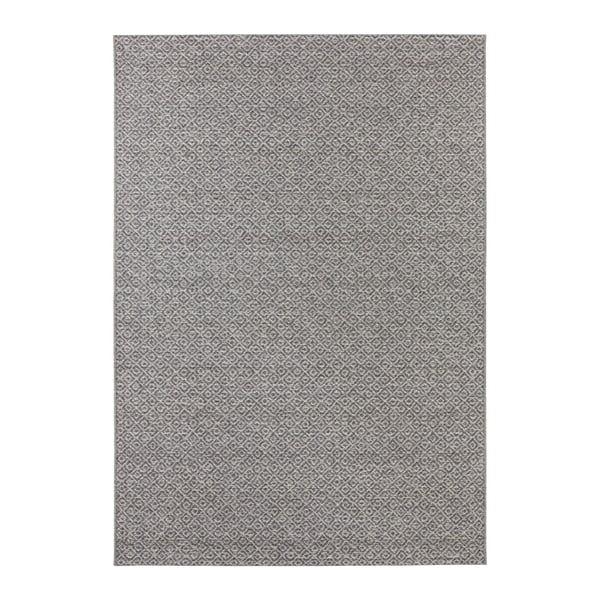 Šedý koberec vhodný i na ven Elle Decor Bloom Croix, 80 x 150 cm