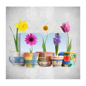 Tablou de perete 3D Mosticx Colourful Flowers, 40 x 60 cm de la Mosticx