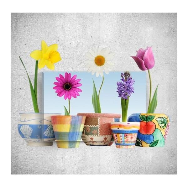 Colourful Flowers 3D fali kép, 40 x 60 cm - Mosticx