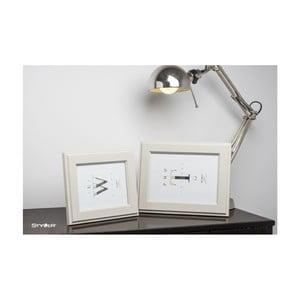 Béžový rámeček na fotografii Styler Malmo, 40x50cm