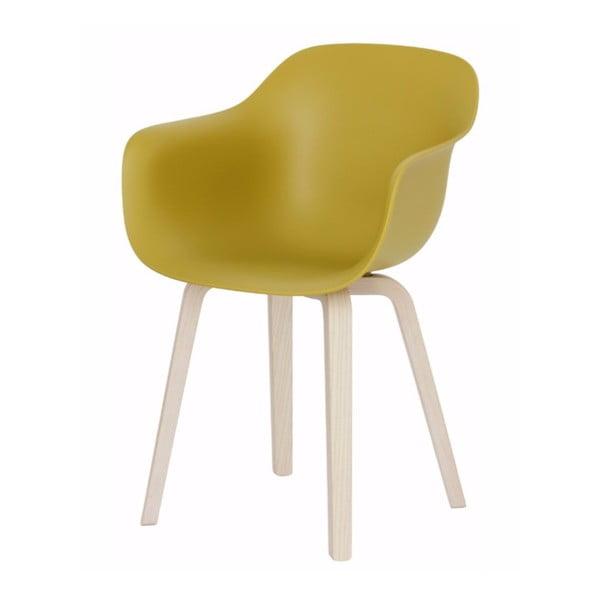 Žlutá jídelní židle s područkami Magis Substance