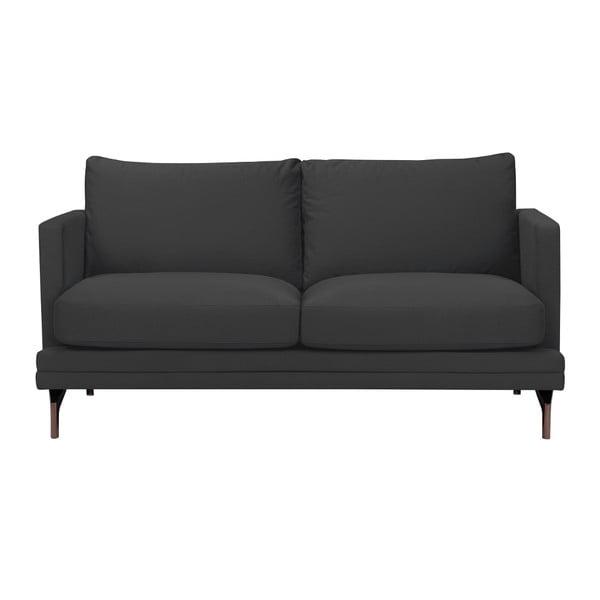 Jupiter sötétszürke kétszemélyes kanapé, aranyszínű lábakkal - Windsor & Co Sofas