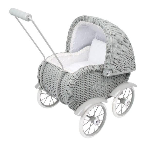 Szary wózek dla lalek Legler Doll's Pram