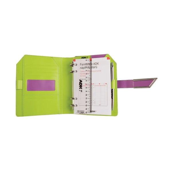 Diář ADK XDK 2015, A6, fialový/zelený