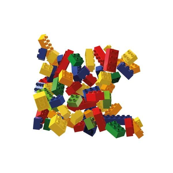 Sada barevných stavebních kostek Hubelino