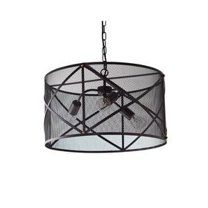 Černé stropní svítidlo se 3 žárovkami Native Industrial