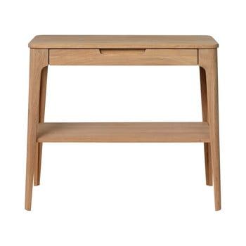 Măsuță tip consolă din lemn alb de stejar Unique Furniture Amalfi