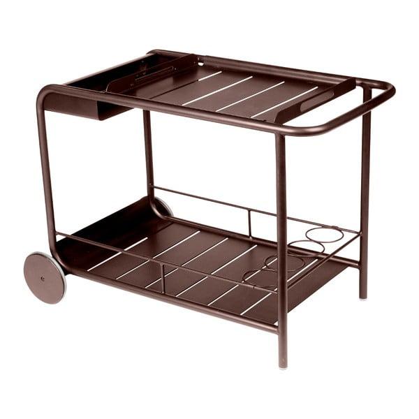 Hnědý servírovací stolek Fermob Luxembourg