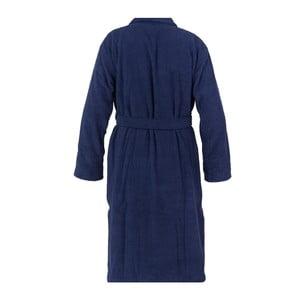 Námořnicky modrý unisex župan z čisté bavlny Casa Di Bassi, XL/XXL