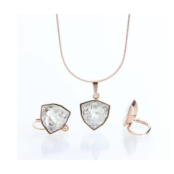 Set náhrdelníku a náušnic Laura Bruni Geometric Golden