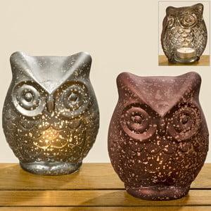 Set 2 suporturi pentru lumânări Boltze Owl