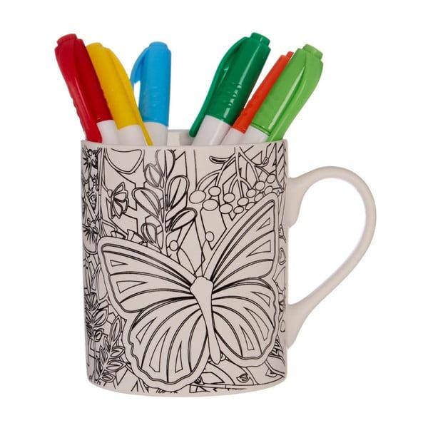 Set 6 markere și cană Premier Housewares DIY,