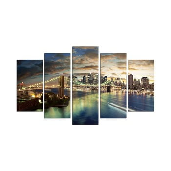 Tablou din mai multe piese Bridge NYC, 110 x 60 cm