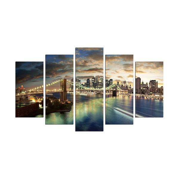 Viacdielny obraz Bridge NYC, 110×60 cm