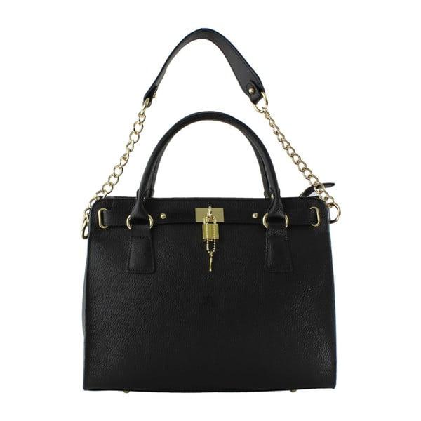 Černá kožená kabelka Monica