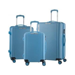 Sada 3modrých cestovních kufrů na kolečkách Murano Vivienne