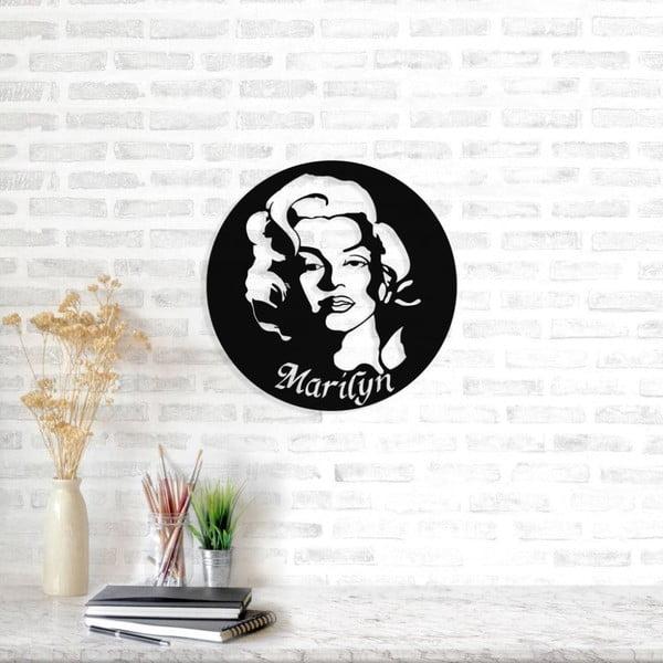 Černá kovová nástěnná dekorace Marilyn Monroe, ⌀ 49 cm