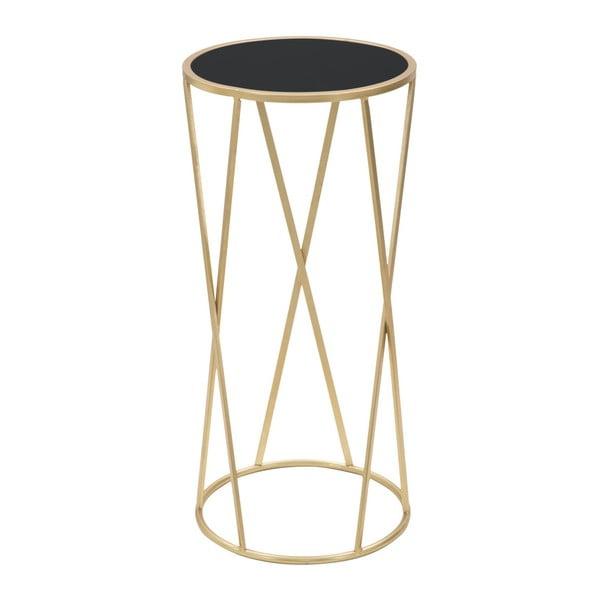 Odkladací stolík v čierno-zlatej farbe Mauro Ferretti Glam Simple, výška 75 cm