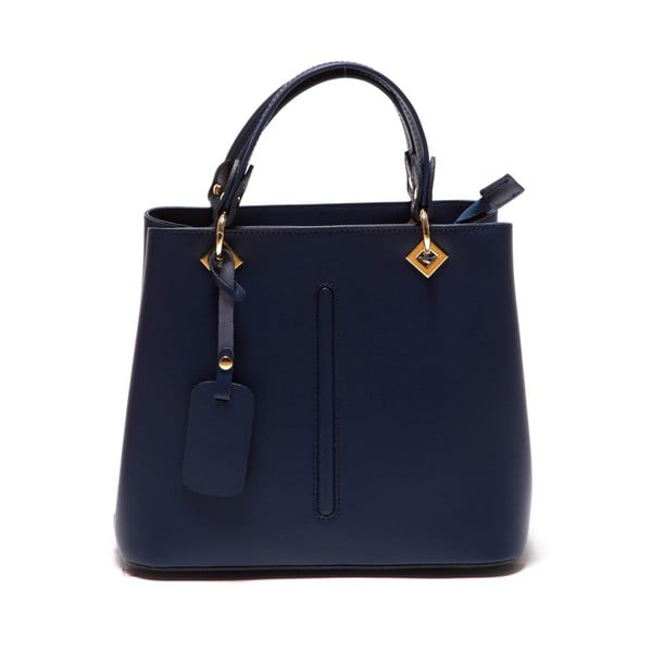Modrá kožená kabelka Roberta M Bella