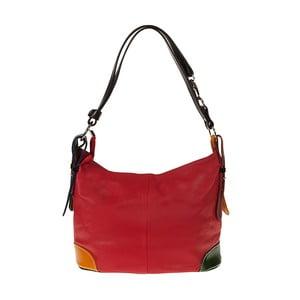 Červená kožená kabelka Pitti Bags Coretta